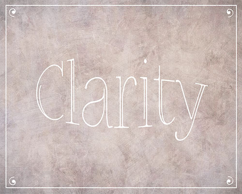 Clarity | Printable Positive Word